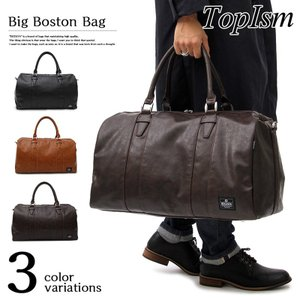 ボストンバッグ メンズ トートバッグ ショルダーバッグ 2WAY カバン かばん 鞄 フェイクレザー 旅行 トラベル ゴルフ 通勤 通学 大容量 ビッグ ビジネス topism