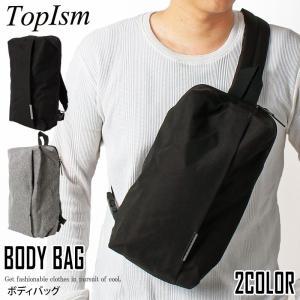 ボディバッグ メンズ ショルダーバッグ ワンショルダーバッグ ウエストバッグ ウエストポーチ 斜め掛け 軽量 かばん カバン 鞄|topism