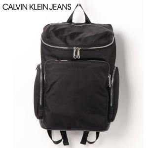 Calvin Klein Jeans カルバンクラインジーンズ CK ナイロンファブリック スクエアデザイン バックパック リュック 鞄 バッグ|topism