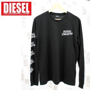 DIESEL ディーゼル ロンT ロゴプリント ロングスリーブ アームプリント クルーネック 長袖Tシャツ「T-DIEGO-LJ1」メンズ ブランド|topism