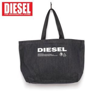 DIESEL ディーゼル メッセージロゴ デニム トートバッグ メンズ ブランド|topism