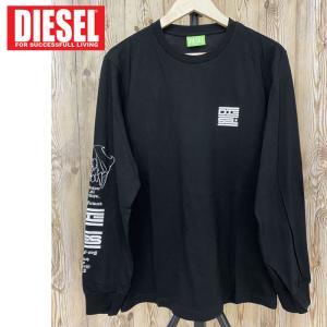 DIESEL ディーゼル メンズ Tシャツ 長袖Tシャツ ロングTシャツ シーズナル グラフィック クルーネック T-JUST-LS-N61 男女兼用 ユニセックス メンズ ブランド|topism