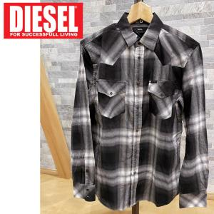 DIESEL ディーゼル オンブレーチェック ウエスタンチェックシャツ 「S-EAST-LONG」 メンズ ブランド|topism