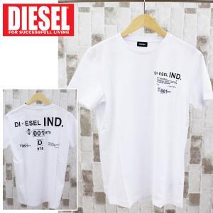 DIESEL ディーゼル ロゴバックプリント クルーネック 半袖Tシャツ「T-DIEGOS-21」メンズ ブランド|topism