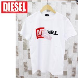 DIESEL ディーゼル ロゴプリント クルーネック 半袖Tシャツ「T-DIEGO-QA」メンズ ブランド|topism