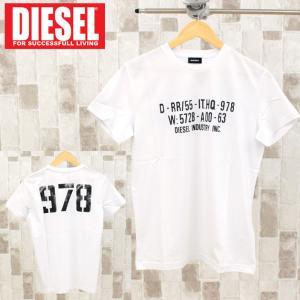 DIESEL ディーゼル ロゴバックプリント クルーネック 半袖Tシャツ「T-DIEGO-S2」メンズ ブランド|topism
