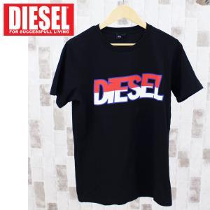 DIESEL ディーゼル ロゴプリント クルーネック 半袖Tシャツ「T-PARSEN」メンズ ブランド|topism