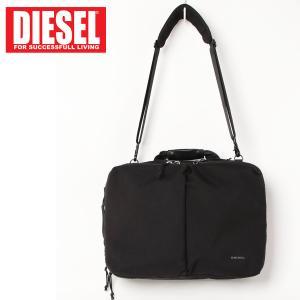 DIESEL ディーゼル CORDURA 3WAYバックパック ブリーフケース ショルダーバッグ ビジネスバッグ メンズ ブランド|topism