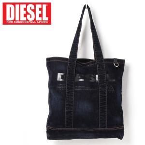 DIESEL ディーゼル ロゴプリントデニムトートバッグ「F-THISBAG SHOPPER」 メンズ ブランド|topism