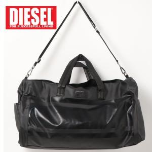 DIESEL ディーゼル PVC マッドコーティング ボストンバッグ ショルダーバッグ「IRON DUFFLE」メンズ ブランド|topism