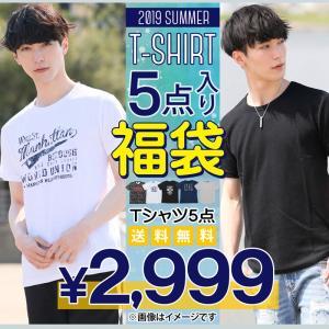 福袋 メンズ 着回し度抜群のTシャツ5点入り福袋 2017年夏 送料無料 メンズファッション 通販 セット 人気 アメカジTシャツ プリントTシャツ 無地Tシャツ|topism