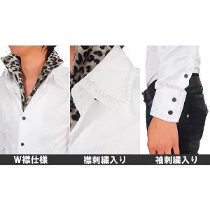 シャツ メンズ サテンシャツ ボタンダウン デュエボットー二 白シャツ ドレスシャツ|topism|03