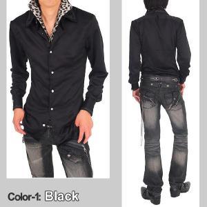 シャツ メンズ サテンシャツ ボタンダウン デュエボットー二 白シャツ ドレスシャツ|topism|04