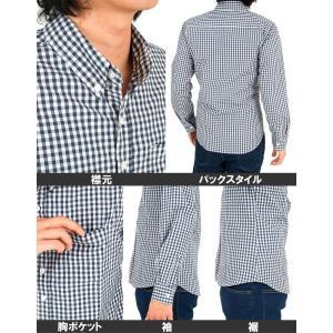 シャツ メンズ ボタンダウンシャツ ウインドウペンチェック 水玉 ドット ギンガムチェック 長袖シャツ カジュアルシャツ|topism|03