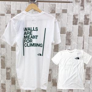 THE NORTH FACE ザ ノースフェイス Tシャツ WALLS ARE MEANT FOR CLIMBING TEE ウォールクライミング ロゴ バックプリントTシャツ メンズ ブランド|topism