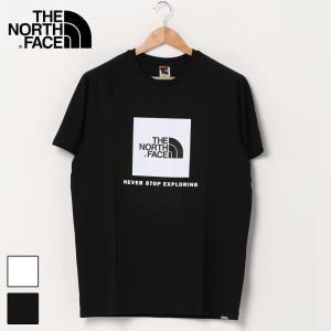 THE NORTH FACE MENS TEE ザ ノースフェイス Tシャツ スクエアロゴ クルーネック 半袖 Tシャツ|topism