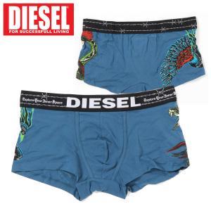 DIESEL ディーゼル ボクサーパンツ フェニックス ファイヤースネーク サイドプリント ロゴ トランクス ブリーフ インナー 下着 メンズ ブランド|topism