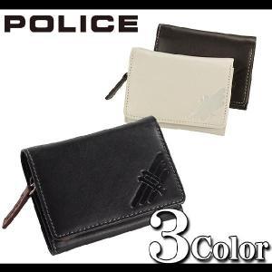 小銭入れ式の三つ折り財布が牛革でオシャレなメンズ財布一押しポリス POLICE  さいふ ウォレット ウオレット メンズファッション 通販|topism