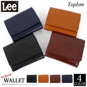 Lee リー イタリアンレザー 3つ折り財布 サイフ さいふ 牛革 イタリア革 本革 メンズファッション メンズ メンズ通販 topism