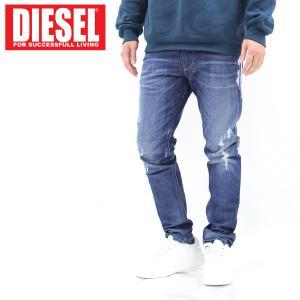 DIESEL ディーゼル JOGG JEANS ストレッチ ダメージ ジョグジーンズ デニムパンツ 「KROOLEY」 メンズ ブランド|topism