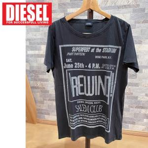 DIESEL ディーゼル ユーズド加工 ロゴプリント ラウンドネック 半袖Tシャツ「T-DIEGO-DC」メンズ ブランド|topism