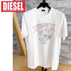 DIESEL ディーゼル アニマルキャラ プリント クルーネック 半袖Tシャツ「T-JUST-W1」メンズ ブランド|topism