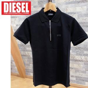 DIESEL ディーゼル ハーフZIP ワンポイント 半袖ポロシャツ「T-KAL-1 POLO」メンズ ブランド ゴルフ|topism
