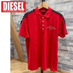 DIESEL ディーゼル ポロシャツ 袖ライン ロゴプリント 半袖「T-GOROU POLO」メンズ ブランド ゴルフ|topism