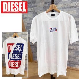 DIESEL ディーゼル スクラッチロゴ プリント クルーネック バックプリント半袖Tシャツ「T-JUST-ZC」メンズ ブランド|topism