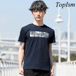 Tシャツ メンズ 半袖 プリントTシャツ クルーネック ロゴ...