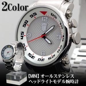 メンズ 腕時計 MINI ステンレス ヘッドライトモデル watch|topism