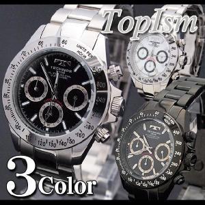腕時計 メンズ 10気圧防水 クロノグラフ クオーツ TECHNOS 新作 2012 メンズウォッチ ウォッチ クォーツ 電池 メンズファッション 通販|topism