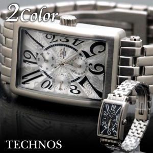 メンズ 腕時計 クオーツ TECHNOS ステンレス watch|topism