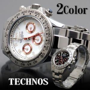 腕時計 メンズ TECHNOS クロノグラフ 10気圧防水 新作 2012|topism