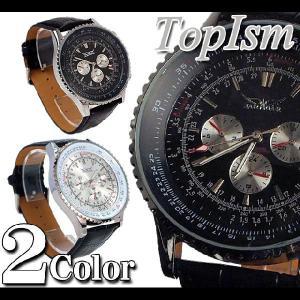 腕時計 メンズ クロノグラフ オートマチック 自動巻き腕時計|topism