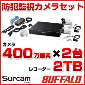 BUFFALO バッファロー 小規模店舗・オフィス向け監視カメラシステム Surcam(サーカム) カメラ 2台 CR1000-02-B12|topjapan