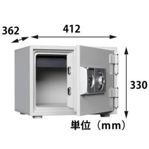 ダイヤセーフ 耐火金庫 D30-1 ダイヤル式 29kg