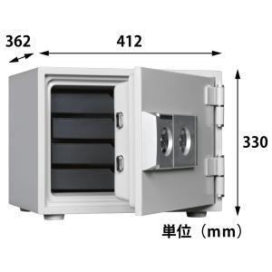 ダイヤセーフ 2キー式 耐火金庫 DW30-4|topjapan