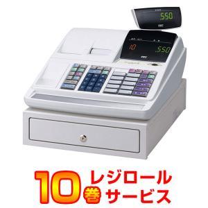 レジスター 本体 東芝テック TEC MA-550-10 ホワイト ロール紙10巻付 軽減税率対策補助金対象商品 小型 2シート