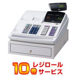 レジスター 本体 東芝テック TEC MA-550-5 ホワイト TEC ロール紙10巻付  小型 2シート