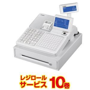 レジスター カシオ  SR-C550-4S ホワイト レジロール10巻付 飲食店向け