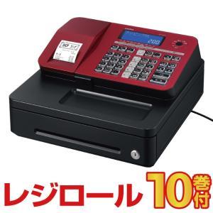 予約受付(納期未定)レジスター カシオ  SR-S200 レッド レジロール10巻付 Bluetooth対応 casio
