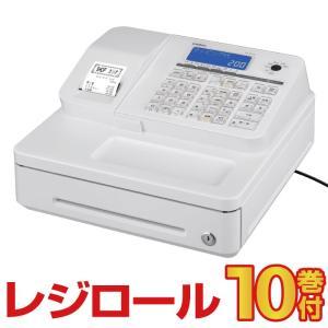 予約受付(納期未定)レジスター カシオ  SR-S200 ホワイト レジロール10巻付 Bluetooth対応 casio