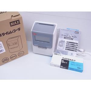 展示開封品 マックスタイムレコーダー ER-80S2 タイムカード100枚付き|topjapan