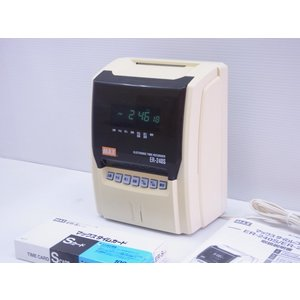 (中古品・整備済み)マックスタイムレコーダーER-240S 整備済 送料無料 ラック・カード付き|topjapan