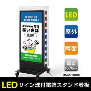 【送料無料】看板 店舗用看板 照明付き看板 内照式 回転LEDサイン球電飾スタンドW560mmxH1100mm TL-S450【法人名義:代引可】 topkanban