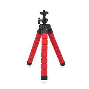 【あすつく】防犯カメラ専用 フレキシブル三脚 撮影したい角度に調節可能 レッド xd-l002rd|topkanban
