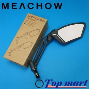 MEACHOW メカウ 自転車 バックミラー 可動式ラウンドガラスミラー type TETRA (シルバーミラー) topmart-s
