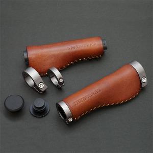 THEODORE セオドール イタリアンレザー 本革グリップ 138mm Brown|topmart-s