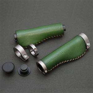 THEODORE セオドール イタリアンレザー 本革グリップ 138mm Green|topmart-s